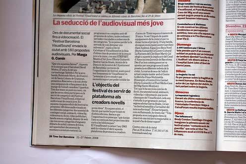 Extracte d'una entrevista, publicada a la revista Time Out de Barcelona